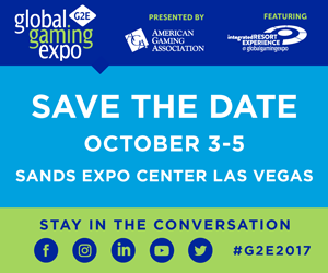 Save the Date for G2E Las Vegas October 3-5